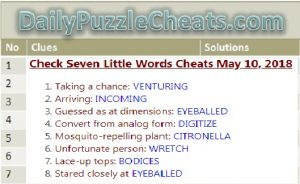 7 little words daily puzzle answers may 10 2018