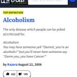 87 Days Sober – Definitions of Alcoholism