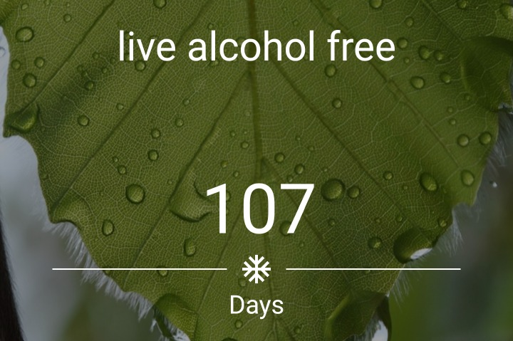 107 days sober recovery from addiction