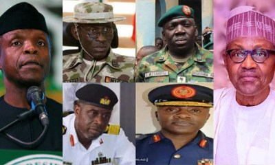 Buhari Osinbajo and Service Chiefs