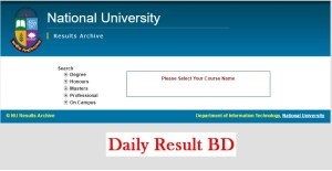 National University Result 2019 Session Download