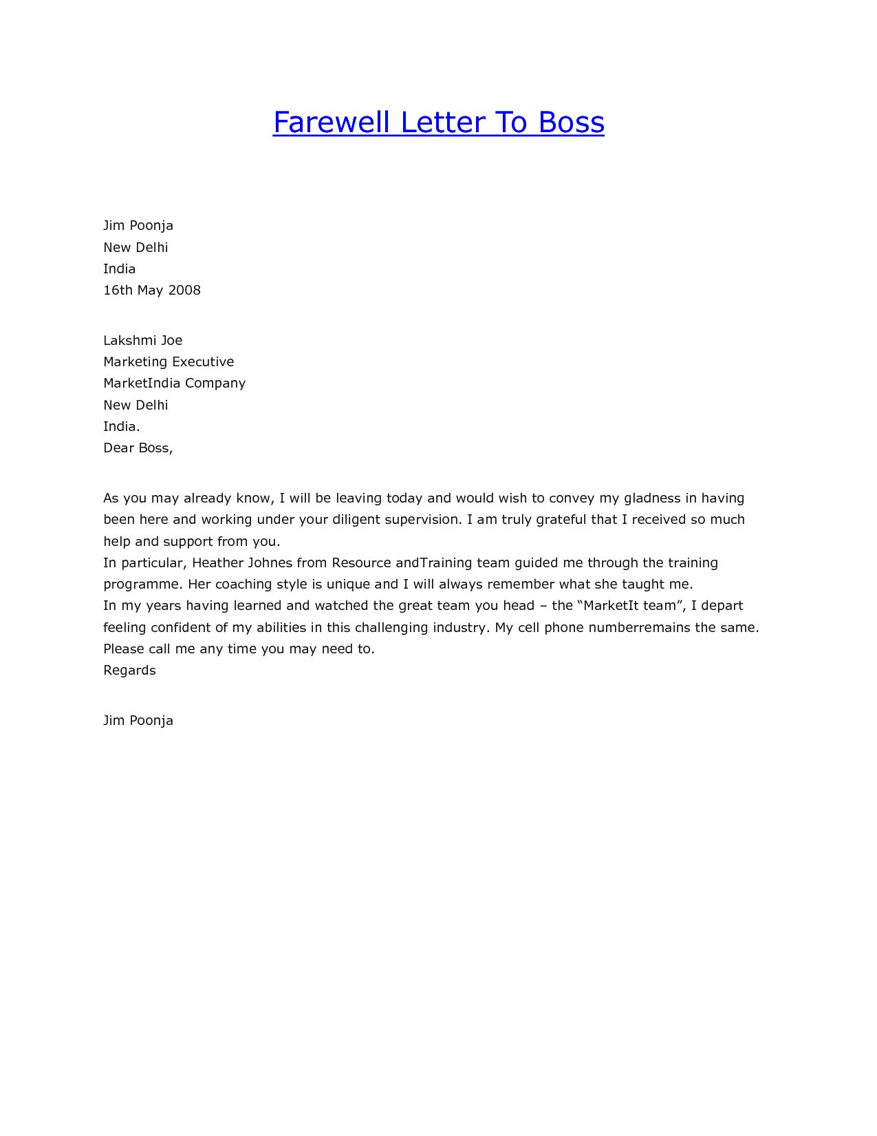 goodbye letter to parents from teacher