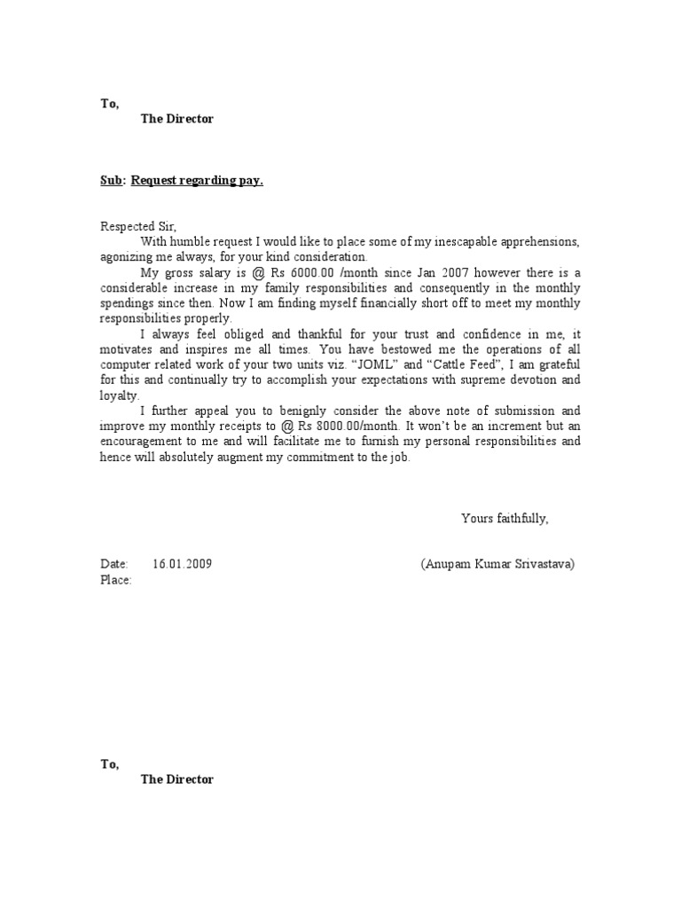 request for salary increase letter