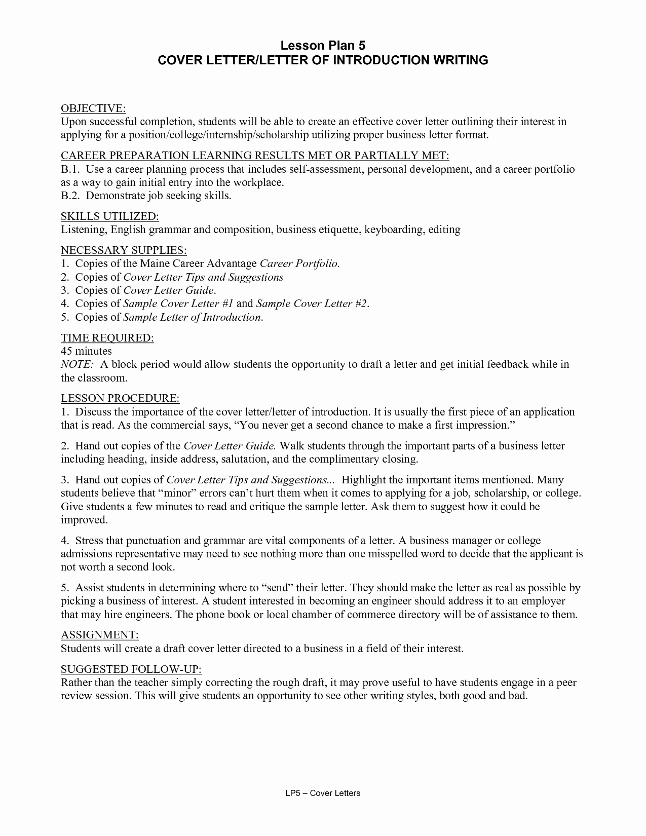General Resume Introduction Examples