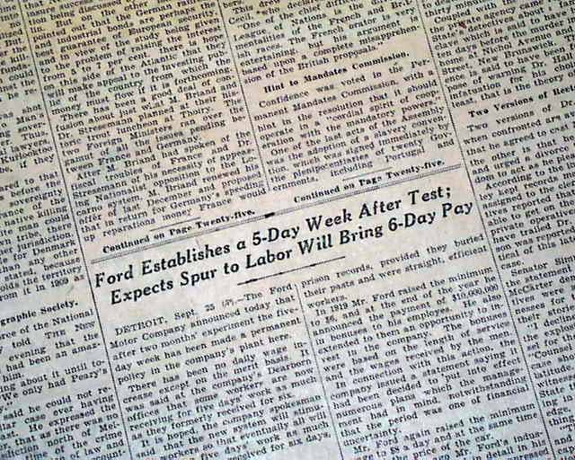 ford-five-day-work-week