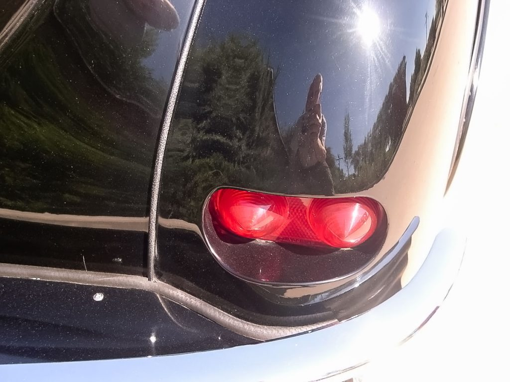 Buick taillights frenched in.