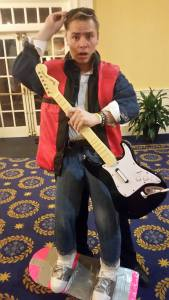 Josh Olson as Marty McFly at the Halloween Party, Oct. 2016.