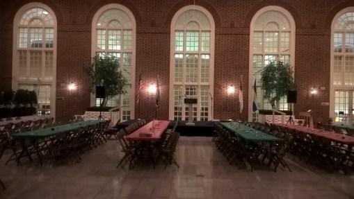 Regent University Library Atrium Decorated