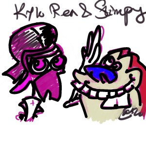 Kylo Ren and Stimpy