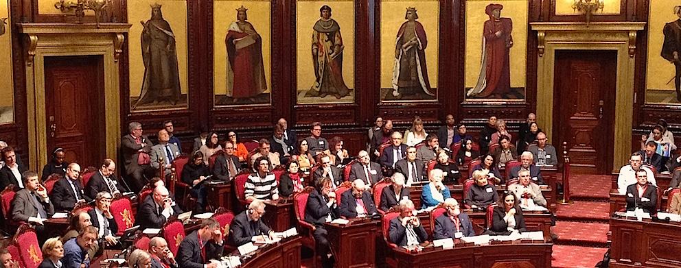 Mardi 3 mars 2015, Colloque au Sénat de Belgique sur l'avenir de la Recherche scientifique dans le pays.