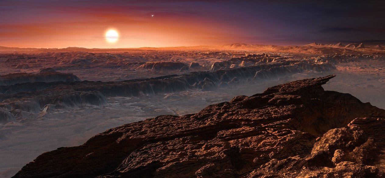 Proxima b, vue d'artiste. © ESO