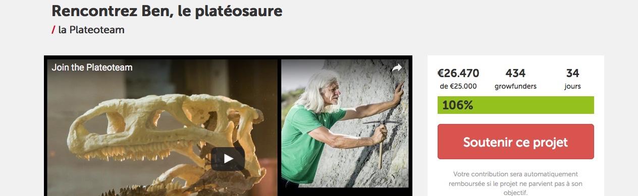 """Crowdfunding réussi pour l'opération """"Ben"""", au Muséum des Sciences Naturelles."""