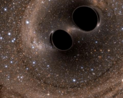 Fusion de deux trous noirs : troisième détection d'ondes gravitationnelles sur Terre.
