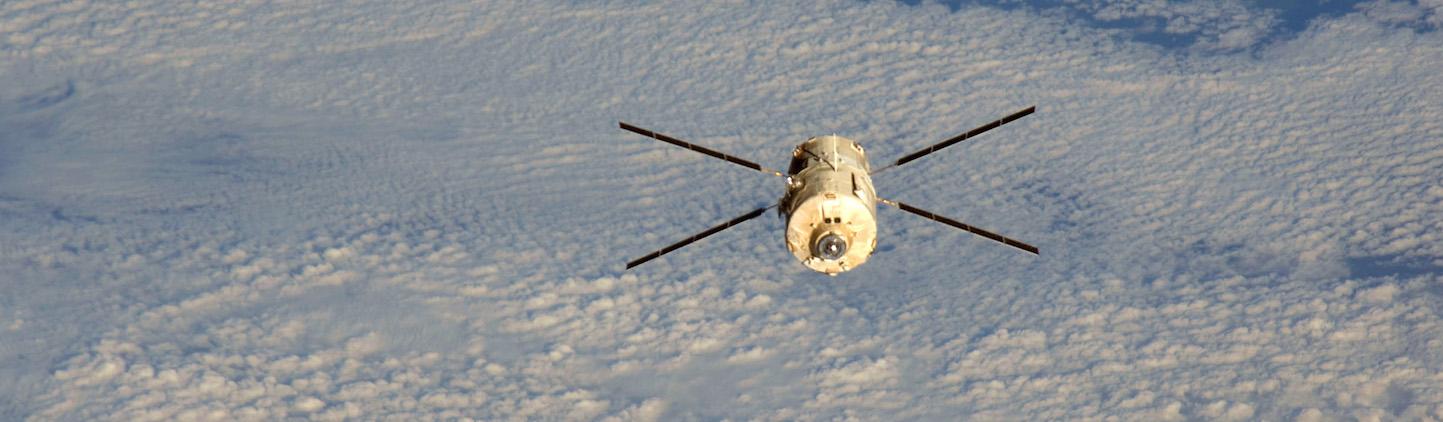 Les cargos spatiaux européens ATV étaient équipés des technologies d'EHP. Photo NASA