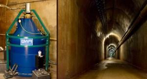 Record de mesure de la gravité à Membach (Belgique). Photos ORB