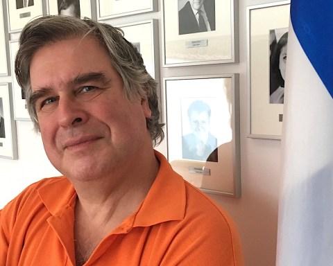 Le Pr Gilles Brassard, Université de Montréal, lundi, à Bruxelles.