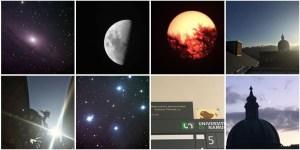 """Mosaïque provenant de la page Facebook """"Astro Campus"""" (Observatoire de l'UNamur)."""