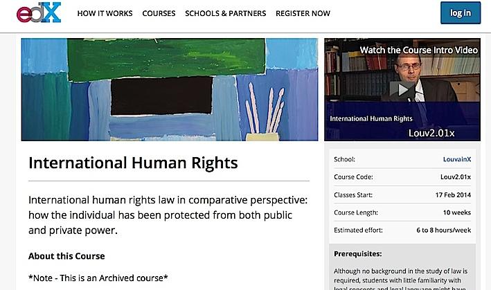Archive du MOOC / UCL sur les Droits de l'Homme.