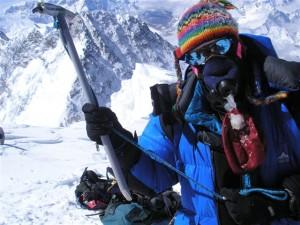 Pr Jacques Pirenne, chirurgien et responsable du service de chirurgie de transplantation abdominale à la KUL, au sommet de l'Everest le 20 mai 2006