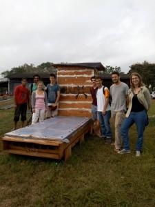 Séchoir solaire réalisé par les étudiants de l'ULB