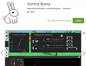 "Application Androïd de ""Yummy Bunny"" (UNamur)."