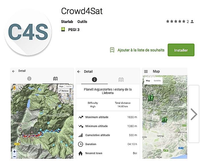 "Application ""Crowd4Sat""."