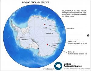 Localisation des sites explorés pour le projet BE OI. (Cliquer pour agrandir)