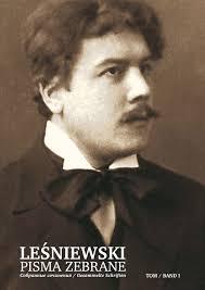 Stanislaw Lesniewski dans sa jeunesse.