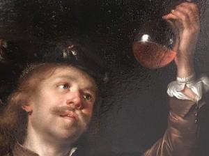 «Le docteur» (détail) vers 1659. Huile sur toile de Van Staveren. Musée de Lakenhal, Leyde.