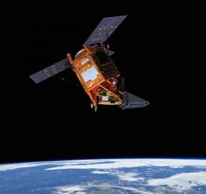 Tropomi en orbite à bord de Sentinel-5P, dessin d'artiste. © ESA (Cliquer pour agrandir)
