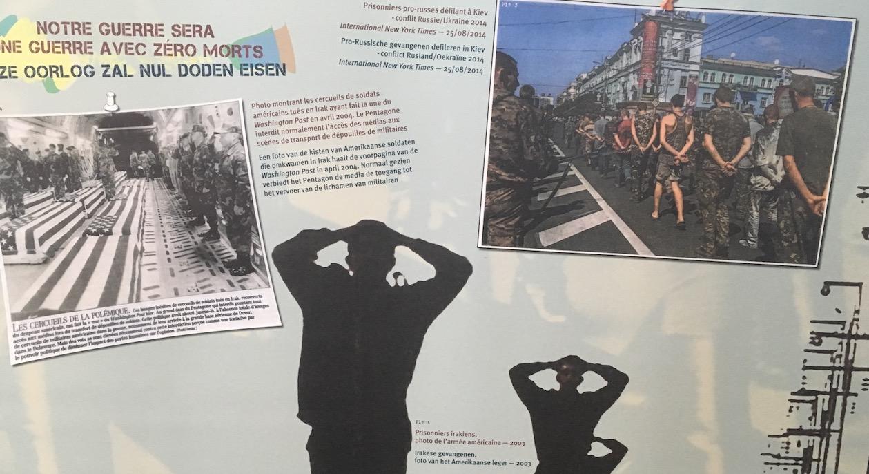 Détail d'un des panneaux de l'exposition