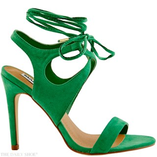 "MADISON ""PAGE"" HEELS IN GREEN"