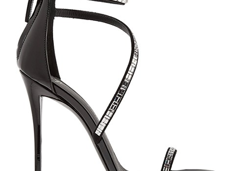 GIUSEPPE ZANOTTI Calliope embellished suede and patent-leather sandals