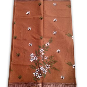 Womans Handloom Cotton Katha Stich Saree - 2