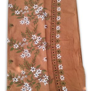 Womans Handloom Cotton Katha Stich Saree - 4