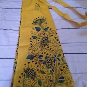 Handloom Cotton Kantha Stich Wrap Skirt
