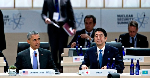 President Barack Obama with Japanese Prime Minister Shinzo Abe at the Nuclear Security Summit in Washington, D.C. (Photo: Pool/Sipa USA/Newscom) COMMENTARY