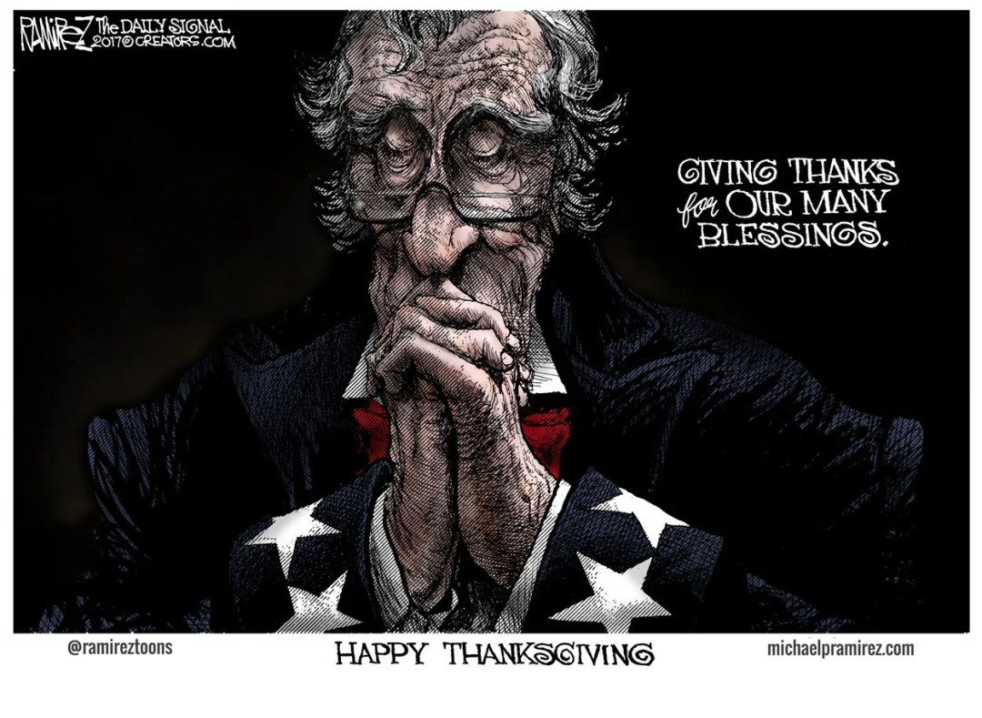 Cartoon: Giving Thanks