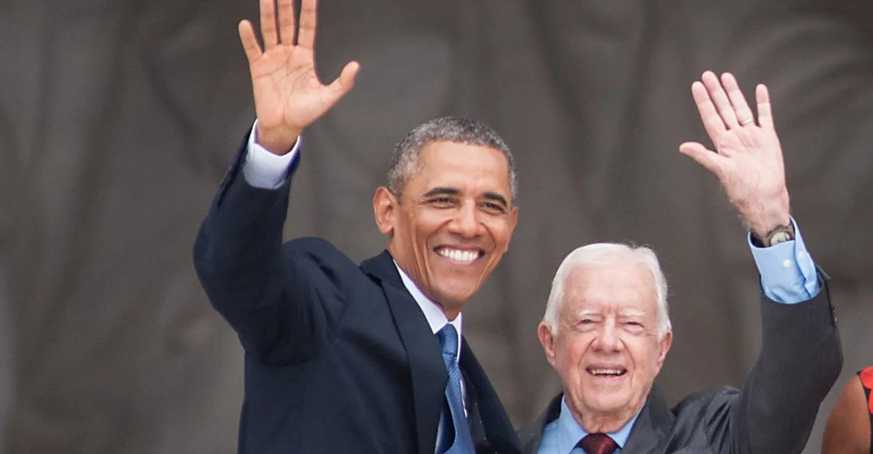 Image result for PHOTO OF jIMMY CARTER WITH OBAMA