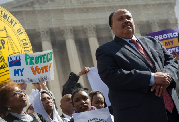 Martin Luther King III spoke out in support of the Voting Rights Act. The Supreme Court struck down a key section of the act in 2013. (Photo: Rod Lamkey Jr./ZUMA Press/Newscom)
