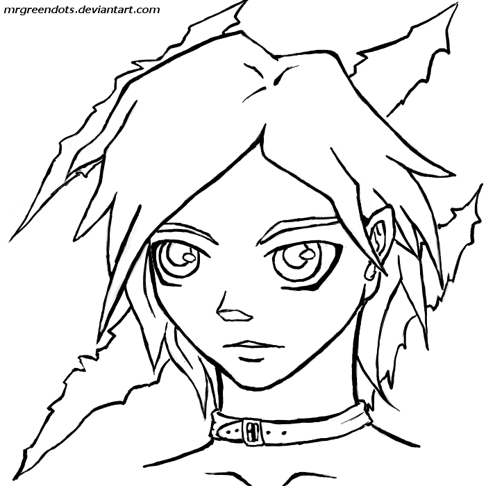 anime girl punk colouring pages