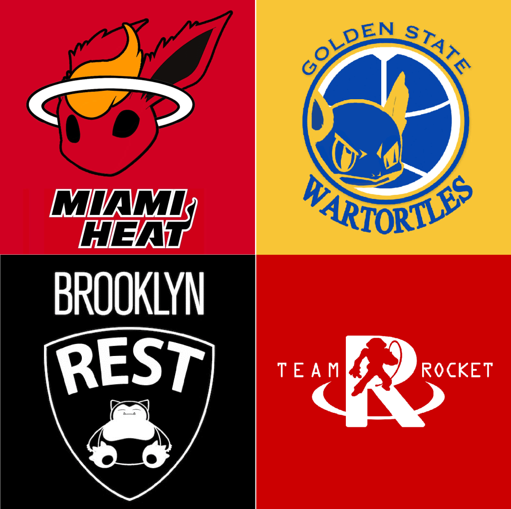 NBA Logos Redesigned As Pokemon Characters  Daily Snark