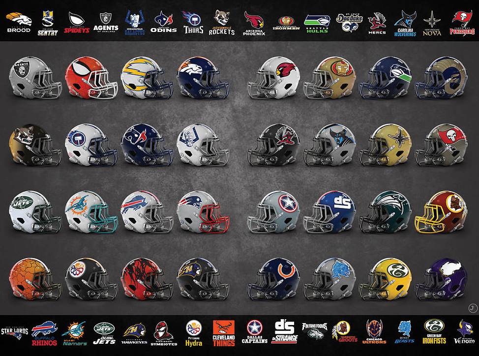 Mfl Marvel Comic Characters Mashed Up With Every Nfl Team