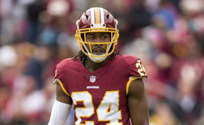 Redskins Cb Josh Norman Jumps Over Bull During Running Of
