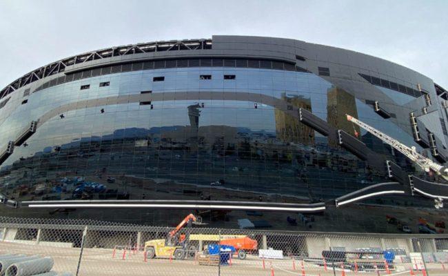Exterior Of Raiders New Stadium In Las Vegas Is Nearly