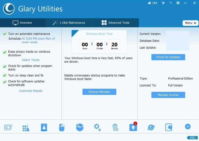 Glary Utilities Pro windows