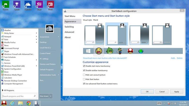 StartIsBack windows
