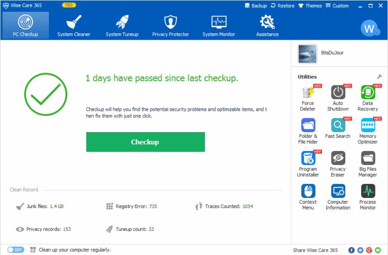 Wise Care 365 Pro windows