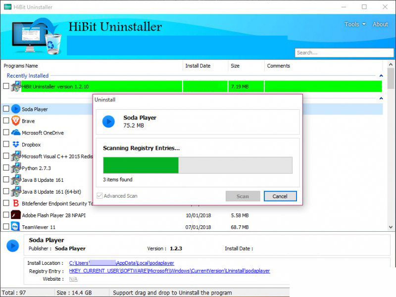 HiBit Uninstaller windows