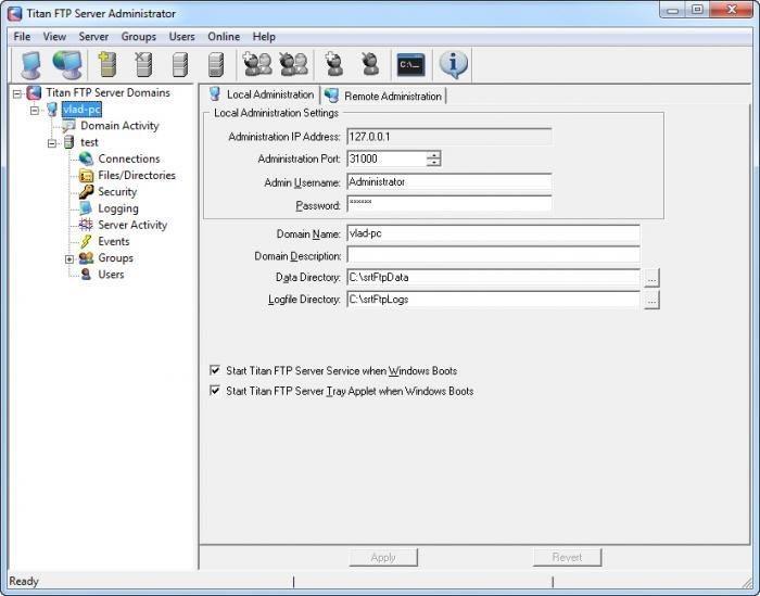 Titan Ftp Server Enterprise windows